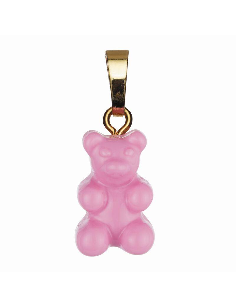Crystal Haze Nostalgia Bear Classic Connector Pendant - Candy Pink