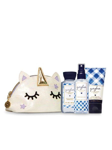 Bath & Body Works GINGHAM Cosmetic Bag Gift Set