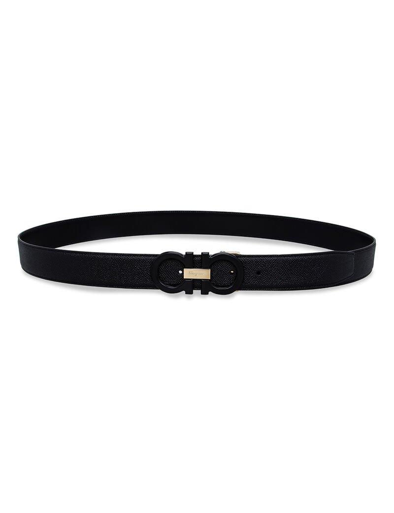 Salvatore Ferragamo Men'S Belts Adjustable And Reversible Double Adjust