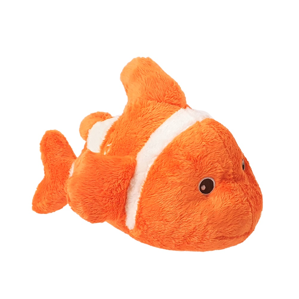 Super soft clown fish soft toy with Dubai embroidery, size 24cm.