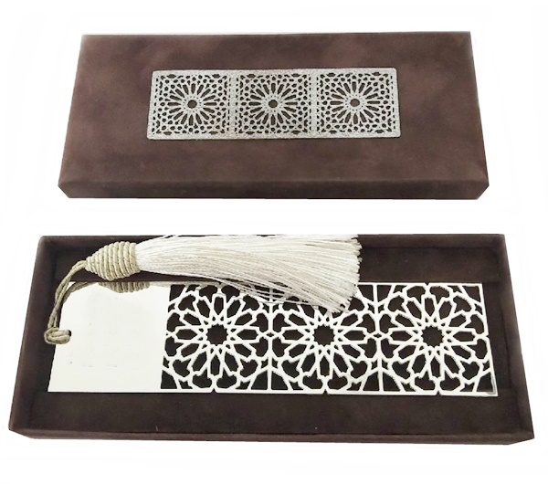 Arabic Geometry Silver Plated Bookmark