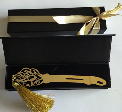 Calligraphy Gold Letter Opener in Paper box