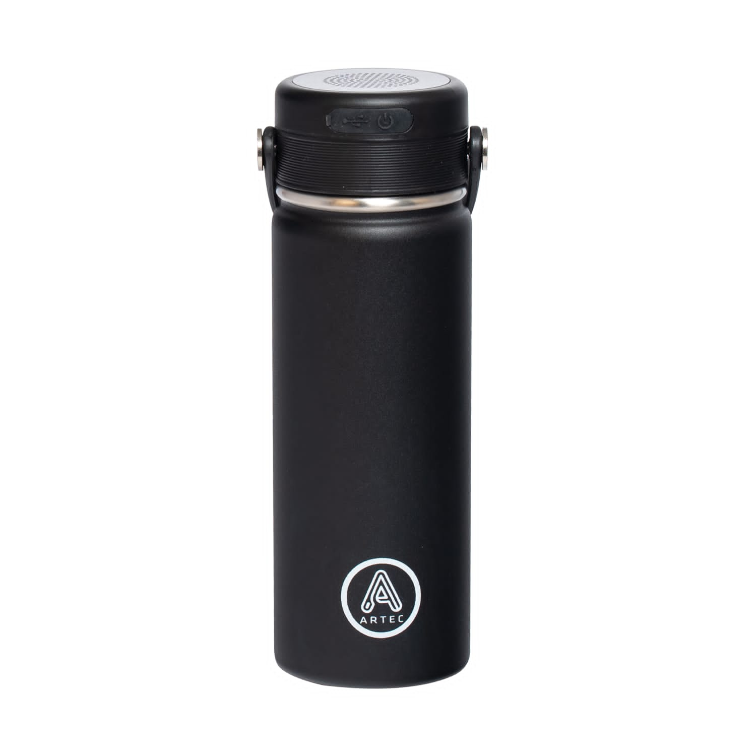 Thermos with Integrated Speaker.