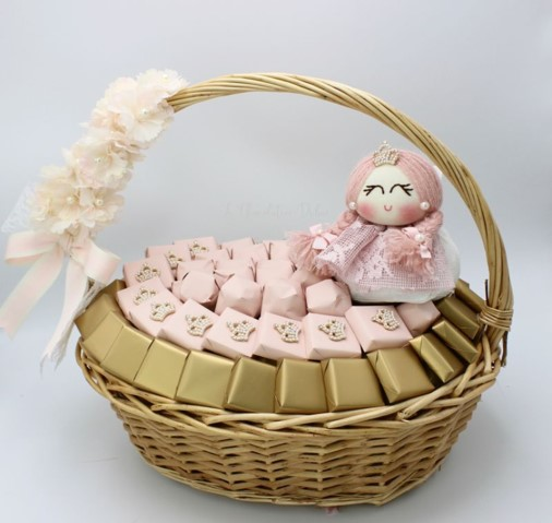 Baby girl stars decorated chocolate box