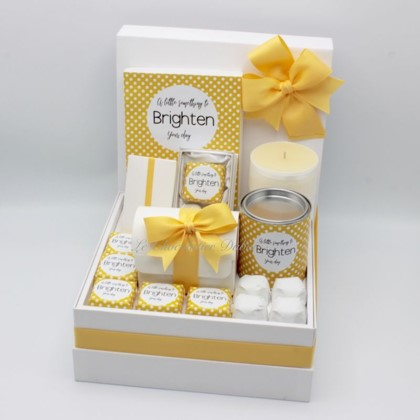 Luxury Brighten your day chocolate & sweets hamper