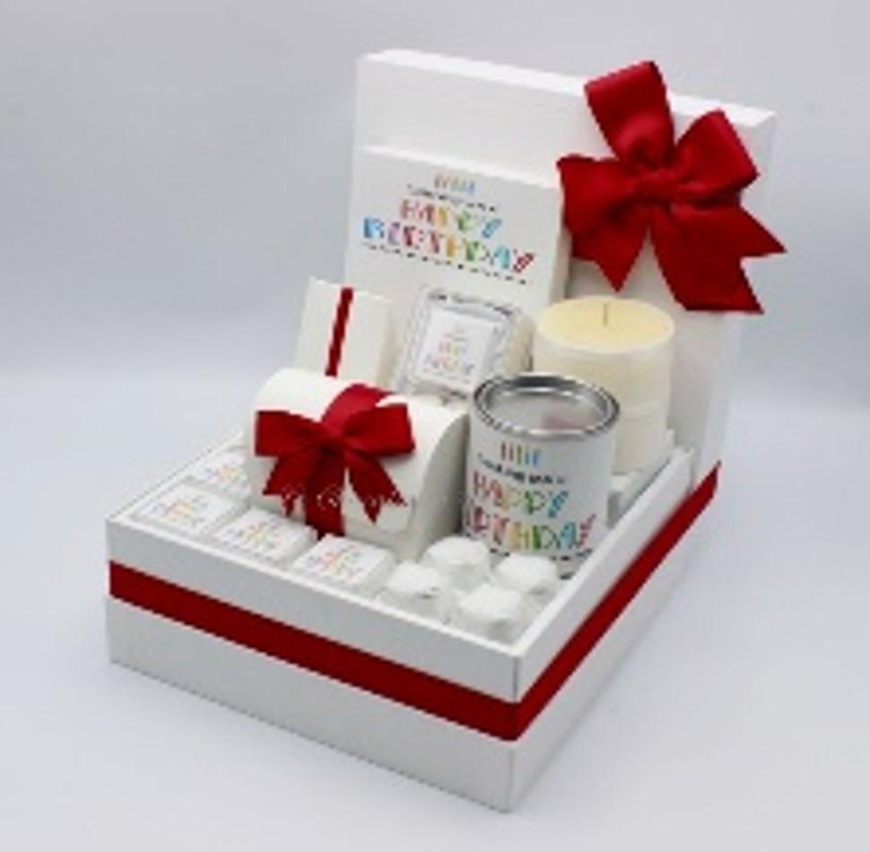 Luxury colorful birthday chocolate & sweets hamper