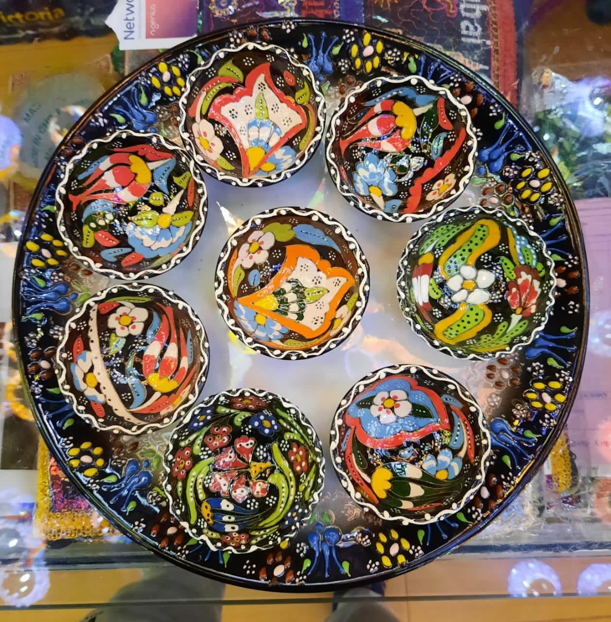 Breakfast Dip 9 Piece Plate Set