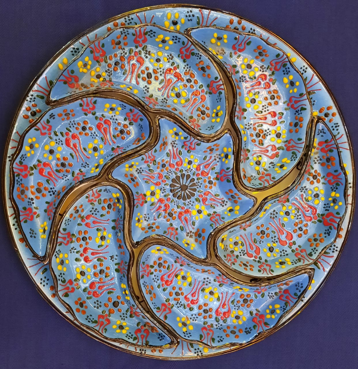 Breakfast Dip 8 Piece Plate Set