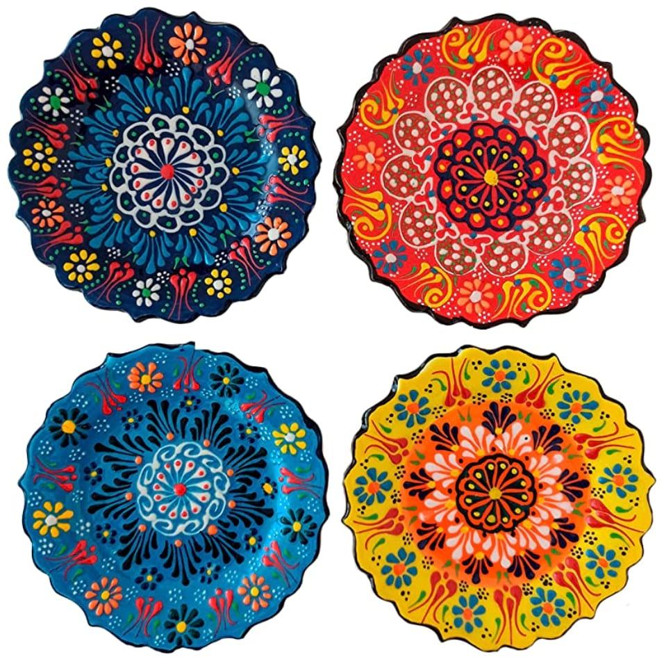 Set of 4 Glossy Turkish Plates