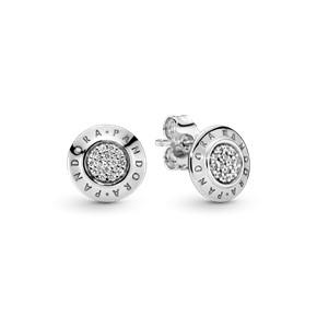 PANDORA silver stud earrings with cubic zirconia