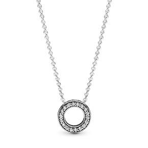 Pandora Logo Pavé Circle Collier Necklace