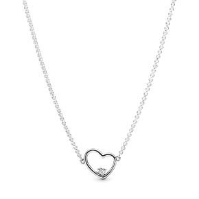 PANDORA Asymmetrical Heart Necklace