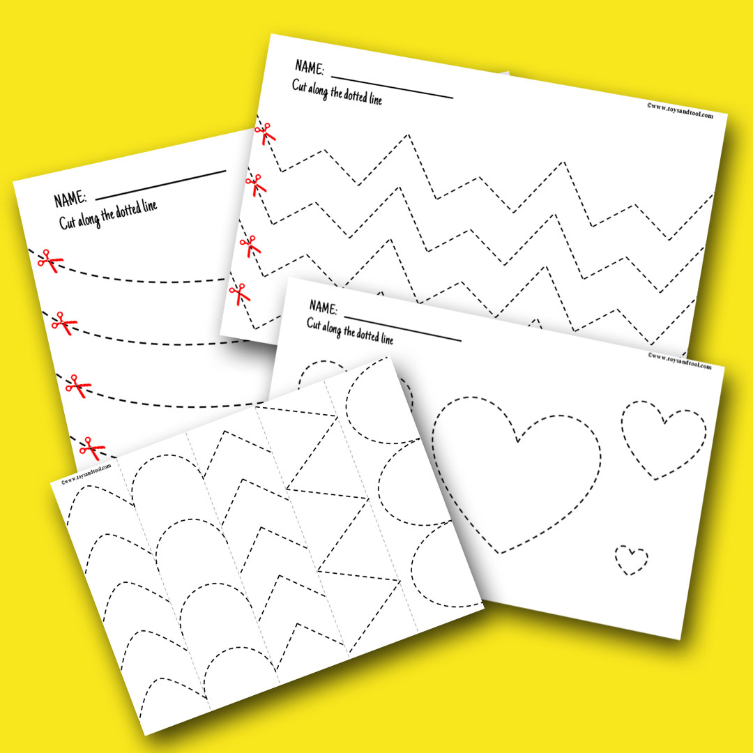 Scissor Skill-Beginners 36 Pages Pack- Practice Strips- Fine Motor Activity (DIGITAL DOWNLOAD)